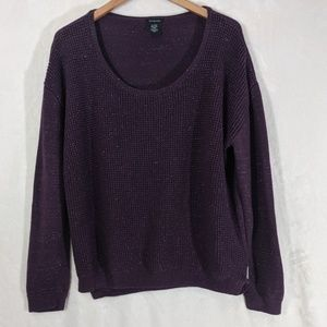 Calvin Klein Eggplant and Silver Knit Sweater